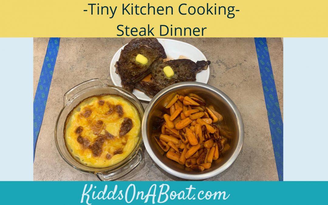 Tiny Kitchen Cooking- Steak Dinner